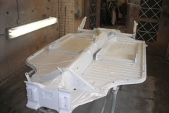 The bare floorpan ready for painting.