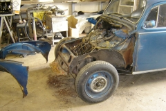 Another ongoing job this '73 Beetle has already had floors and heater channels now the front end is being replaced.