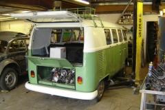 Daily driver split screen van having some bodywork and oil leak repaired.