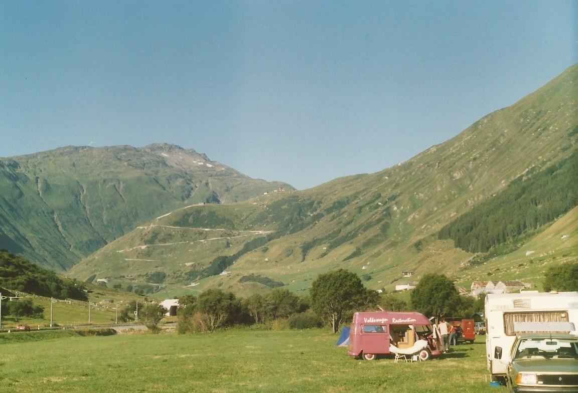 Campsite near Furka