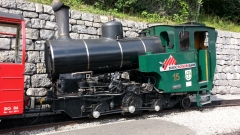 Loco at Brienzer Rothorn cog railway