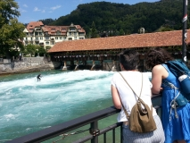 The surfing weir in Thun