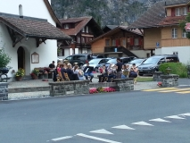 Brass band playing in Kandersteg