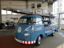 Ok, so this one isn't actually in the Bughaus workshop. This fine split pickup ladder  truck was spotted on our travels in Germany