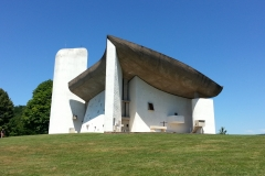 Le Corbusier designed chapel at Ronchamp