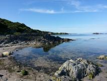 Tranquil coastal waters near Ardbeg