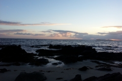 Watching the sun set from our pitch on Kintyre
