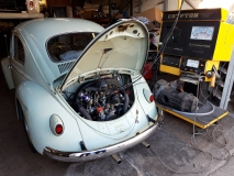 Nice '59 daily driver being set up post engine swop.