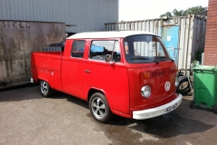 This crewcab came to us as a painted rolling shell....